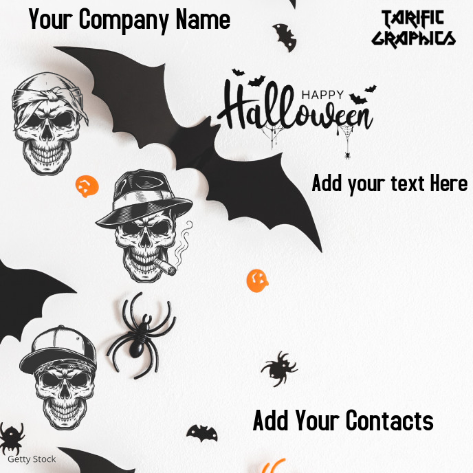 Halloween Flyer Albumhoes template