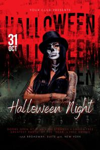 Halloween Flyer Cartel de 4 × 6 pulg. template