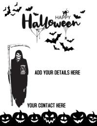 Halloween flyer ใบปลิว (US Letter) template