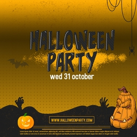 halloween flyer Cover ng Album template