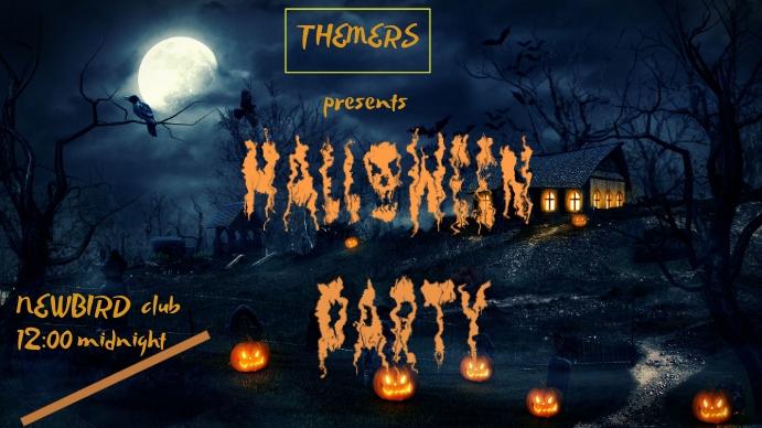 Halloween flyer Digitalt display (16:9) template