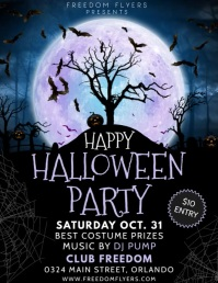 Halloween Flyer Volantino (US Letter) template
