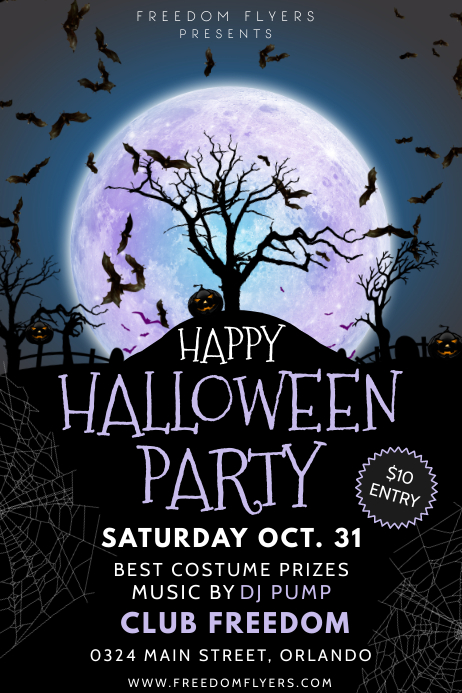 Halloween Flyer 海报 template