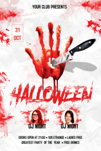 Halloween Flyer Баннер 4' × 6' template