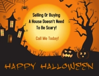 Halloween flyer Volante (Carta US) template