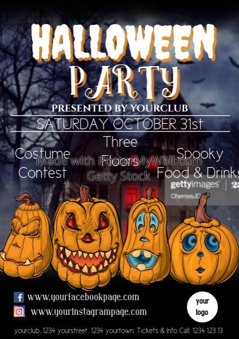 Halloween Flyer Template advert