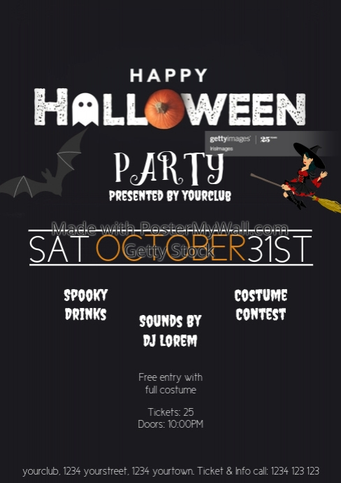 Halloween Flyer Template advert