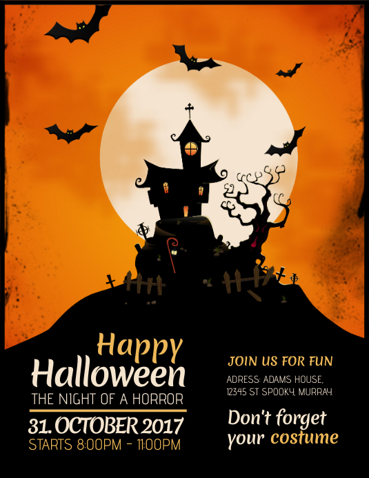 halloween flyer template postermywall