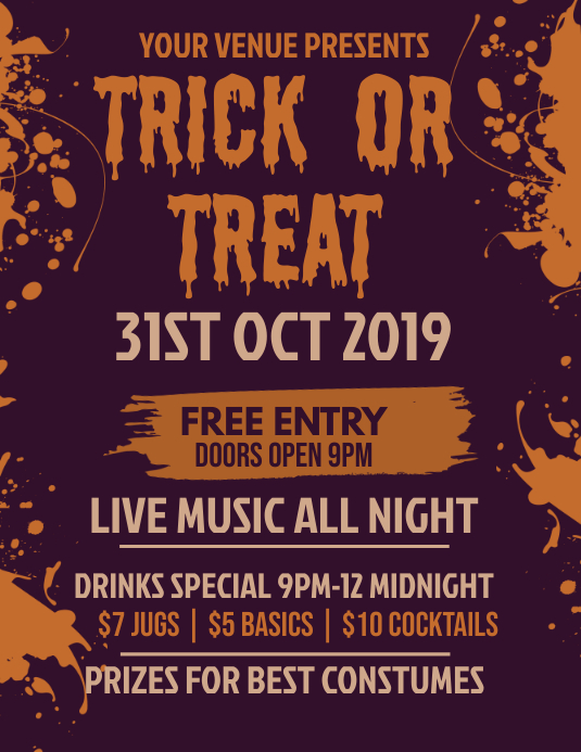 Halloween Flyer Template ใบปลิว (US Letter)
