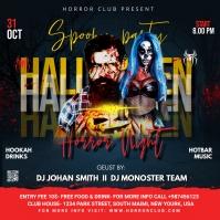 Halloween flyer template Instagram Post