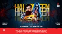 Halloween flyer template Message Twitter
