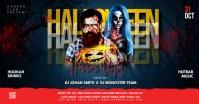 Halloween flyer template Ibinahaging Larawan sa Facebook