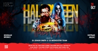 Halloween flyer template โฆษณา Facebook