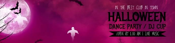 Halloween Flyer Template Banner 2' × 8'