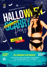 Halloween flyer template A3