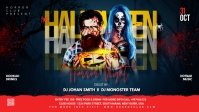 Halloween flyer template Facebook-covervideo (16:9)