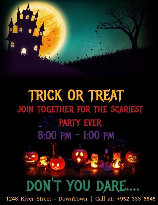 Halloween Flyer Template Volante (Carta US)
