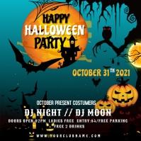 halloween flyer template Сообщение Instagram