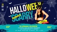 Halloween flyer template Iphosti le-Twitter