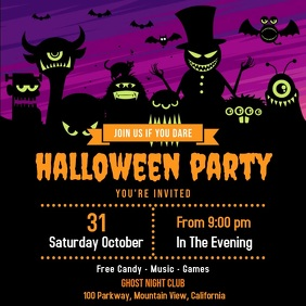 Halloween Flyer Template Square (1:1)