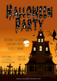 Halloween Flyer Template party spooky