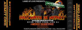 HALLOWEEN FLYER ticket Portada de Facebook template