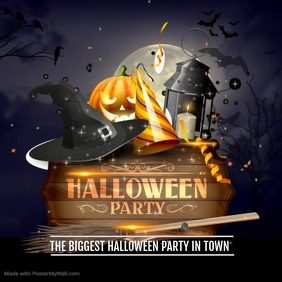 Halloween flyer video,Event flyer