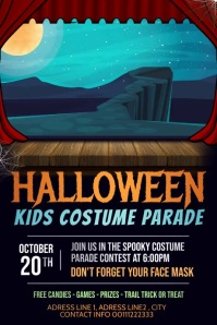 Halloween flyer videos, Trick or treat Poster template