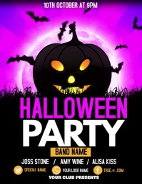 Halloween flyers, event flyers,party flyers template