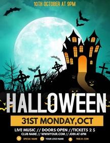 Halloween flyers, event flyers