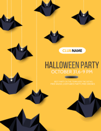 Halloween flyers,costume flyers, party flyers