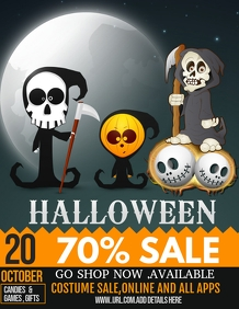 Halloween flyers,event flyers ,Retail flyers