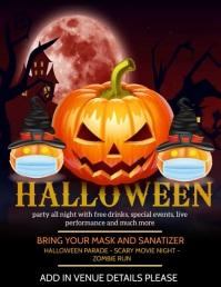 Halloween flyers,Pumpkin carving contest 传单(美国信函) template