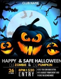 Halloween Flyers,Spooky flyers,Trick or treat Volante (Carta US) template