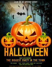 Halloween flyers,trick or treat flyers,event