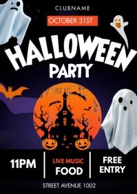 Halloween flyers A3 template