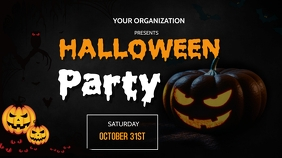 Halloween flyerS Digitalt display (16:9) template