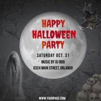 Halloween flyers Post Instagram template