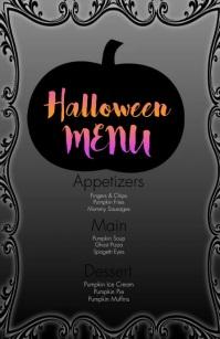 Halloween Food Menu Video Half Page Wide template