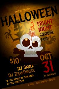 Halloween Fright Night Poster