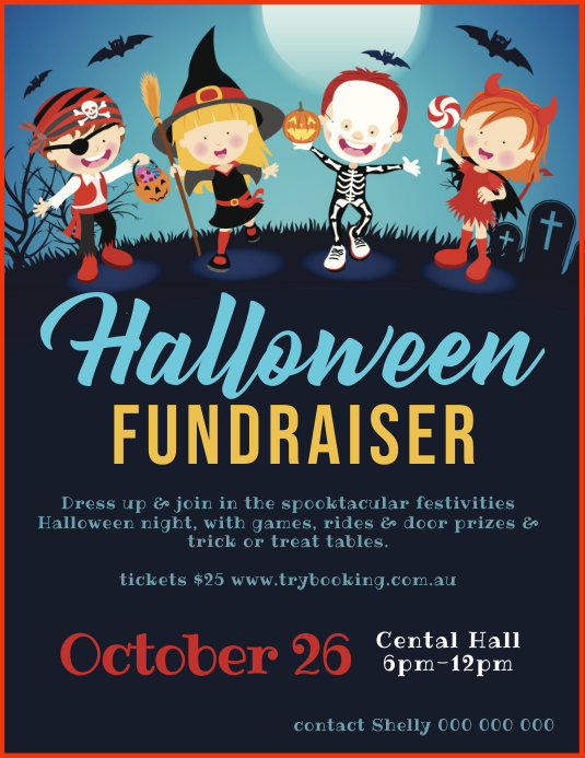 Halloween Fundraiser ใบปลิว (US Letter) template