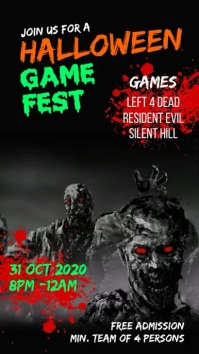 Halloween game fest História do Instagram template