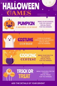 Halloween , Church halloween event Poster template