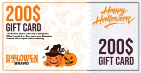 Halloween Gift Card Promo Template Ibinahaging Larawan sa Facebook