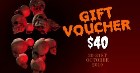 Halloween gift voucher Facebook Shared Image template