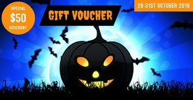 Halloween gift voucher Ibinahaging Larawan sa Facebook template