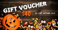 Halloween gift voucher Изображение, которым поделились на Facebook template