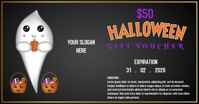 Halloween gift voucher template