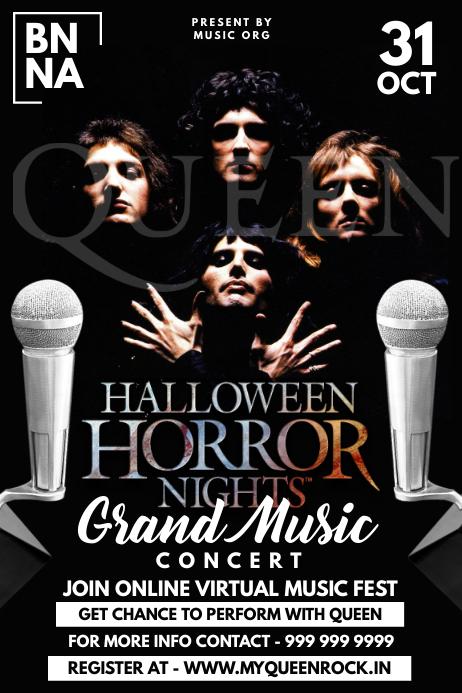 Halloween Grand Music Concert Template โปสเตอร์