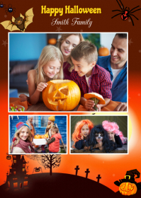 Halloween Greeting Card A6 template